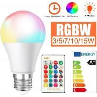 Λάμπα 3W-15W E27 AC85-265V RGBW LED με Remote Control ΟΕΜ