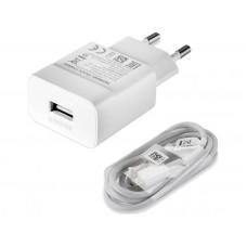 Φορτιστής  Fast charger white 2A με καλώδιο micro USB