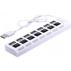 Portable USB Hub 2.0 7-port On/Off Switch White-με δυνατότητα τροφοδοσίας