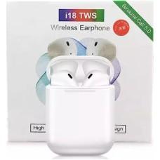 i18 TWS Binaural Αθλητικά Bluetooth 5.0 Ασύρματα ακουστικά – άσπρο